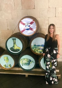 teresa barricas de vino rioja